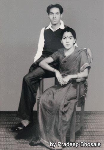 トゥトゥの長女プレミラとその夫(元写真はPradeeb氏所有)