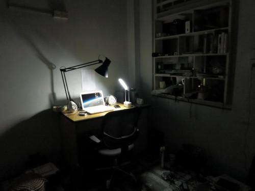 停電でLEDランプを使用中