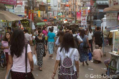 U Tun Lin Chan 通り
