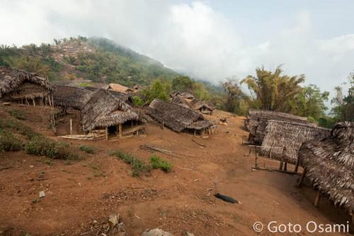 山の上まで村が延びていた