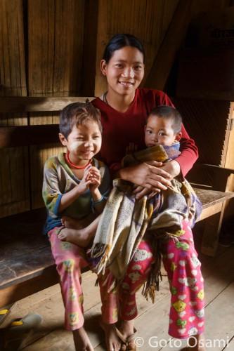 納豆をくれたポンニョン村の若いお母さん