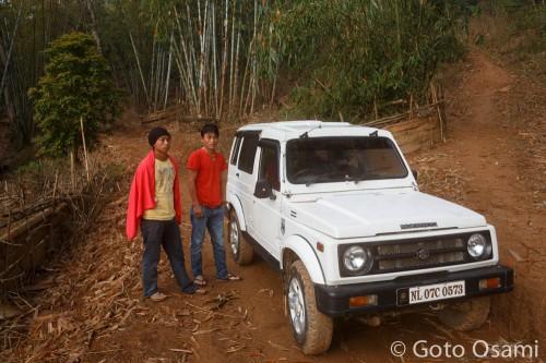 インドから来たナガの青年