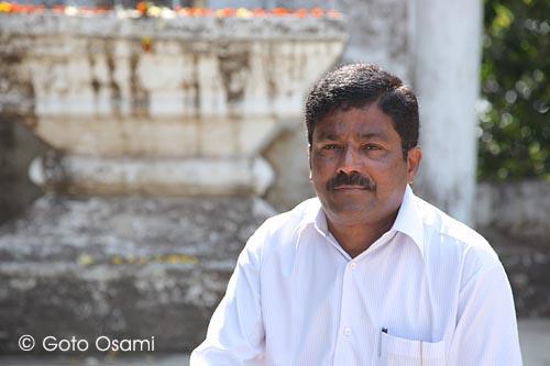 プレミラの次男 Pradeeb Bhosle氏。今回の旅でいろいろとお世話になった