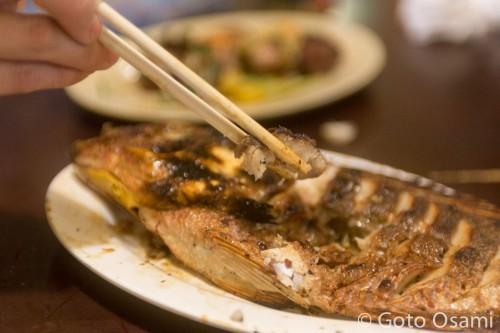 ヤンゴンで最も一般的な焼き魚はティラピア