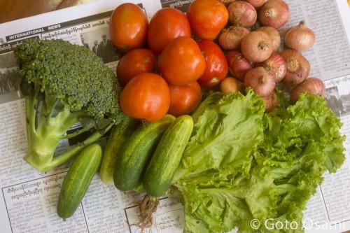 野菜全部で1500Ks(159円)。